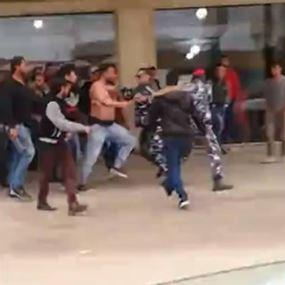 بالفيديو: قبضايات يعتدون على رجال الأمن الداخلي