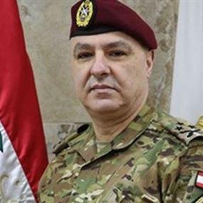 بعد تداول صورته مع العماد عون.. قيادة الجيش توضح