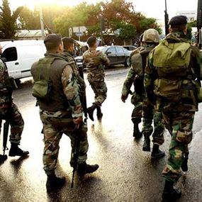 الجيش أوقف شخصين بحوزتهما حبوب مخدرة