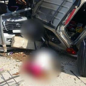 بالصور: قتيلان وجريح في اصطدام سيارة بمعرض للسيارات