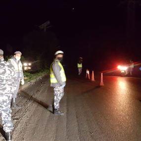 قوى الأمن تشرف على تنفيذ اجرءات منع التجول في طرابلس