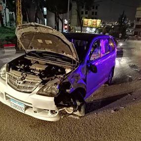 جريح جراء حادث سير في الرابية