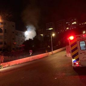 بالفيديو: حريق في المجمّع البطريركي الماروني