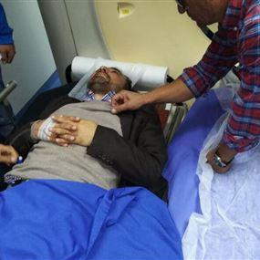 محاصرة المرشح علي الأمين بعد الإعتداء عليه (فيديو)