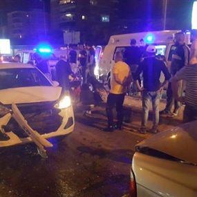 حادث سير يتسبب بسقوط ١٠ جرحى