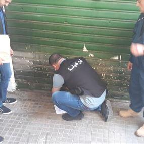 إغلاق محال تجارية غير شرعية في فرن الشباك