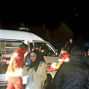 بالصور: حادث مروع بين 3 سيارات احداها للصليب الاحمر