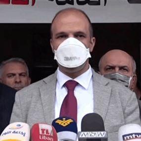 وزير الصحة: إذا بقيت إصابات كورونا مرتفعة سأطلب إقفال البلد 48 ساعة