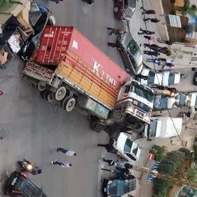 بالصور: حادث سير مروّع في تلّة الخياط