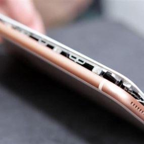 انفجار أول هاتف آيفون 8 بلس