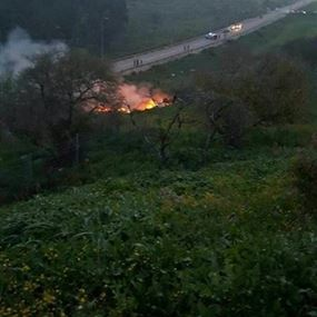 الصور الأولية لحطام الـF16 الإسرائيلية
