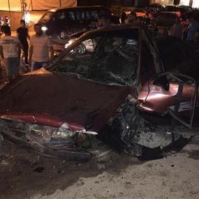 خمسة جرحى اثر حادث سير