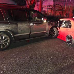 بالصور: 5 جرحى إثر حادث سير في غزير