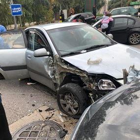 جريح جراء حادث سير في المطيلب