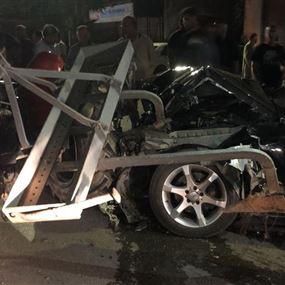 جريح جراء حادث سير على طريق عام قصرنبا