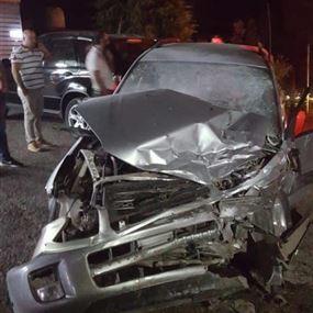 ثلاثة جرحى اثر حادث سير في فيطرون