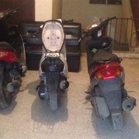بالصور: توقيف عصابة قامت بعدة عمليات سرقة لدراجات آلية