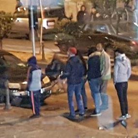 محتجون حطموا واجهات مصرف سيدروس واقفلوا جادة رياض الصلح