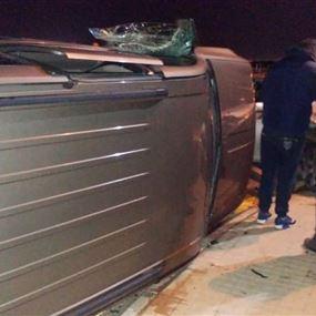 جريحان اثر حادث سير في خلدة