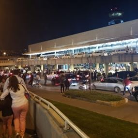 اطلاق نار امام مدخل مطار بيروت وسقوط جريح