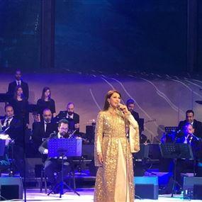 ماجدة الرومي أحيت حفل افتتاح مهرجان شتاء طنطورة بمدينة العلا