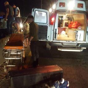 بالصور: جرحى جرّاء حادث سير في عمشيت
