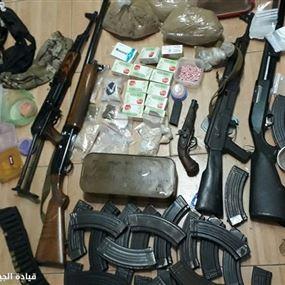 بالصور: ضبط أسلحة ومخدرات خلال عمليات دهم للمخابرات
