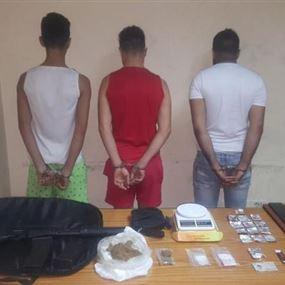 توقيف عصابة لترويج المخدرات في النبعة