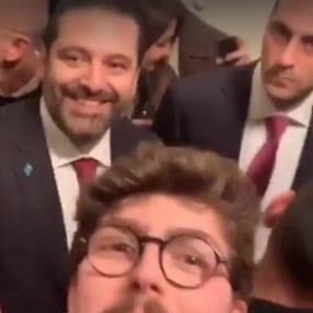 بالفيديو.. معجب يلاحق الحريري في لندن: قل لي بحبك!