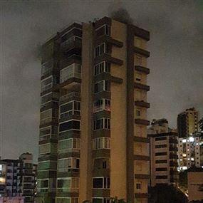 حريق شب داخل منور وامتد ليطال ١٢ شقة في جل الديب