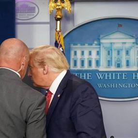 ترامب يخرج من المؤتمر بشكل مفاجئ: إطلاق نار خارج البيت الأبيض