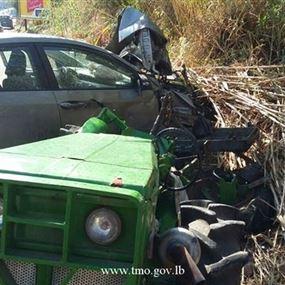 جريح في حادث سير على اوتوستراد البترون