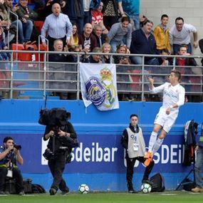 رونالدو ينقذ ريال مدريد من فخ إيبار بهدف متأخر