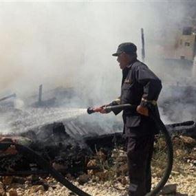 بالصور.. حريق يلتهم خيماً للنازحين في البقاع الغربي!