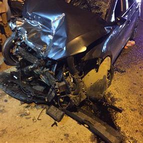 حادث سير عند مفرق مستشفى البقاع.. وسقوط 5 جرحى