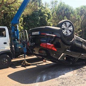 بالصور.. حادث سير مروع في عجلتون