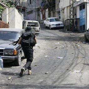 إشتباكات عنيفة في صيدا بين أنصار الله وحركة فتح (فيديو)
