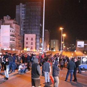 متظاهرو طريق بعبدا إلى ساحة الشهداء وآخرون يتحضرون لقطع الرينغ