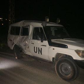 اصابة احد عناصر الكتيبة النيبالية بحادث سير