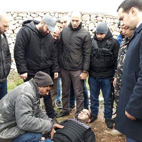بالصور: فادي مثّل جريمة ذبح زوجته