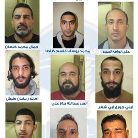 تعميم صور السجناء الفارين من نظارة قصر عدل بعبدا