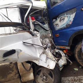 بالصور.. قتيل نتيجة حادث سير مروع
