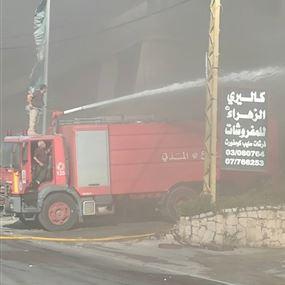 انفجار شاحنة مخصصة لنقل قوارير الغاز في كفرتبنيت