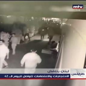 بالفيديو: ما أظهرته كاميرات المراقبة عما حصل ليلا في طرابلس