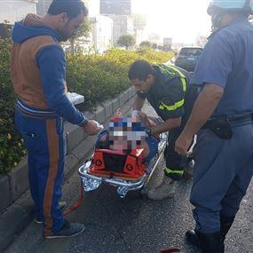 بالصور: جريحة اثر حادث سير في الدورة