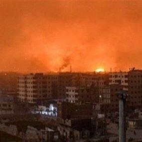 صواريخ استهدفت مستودعات اسلحة لحزب الله في حمص