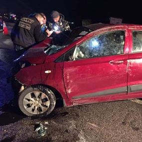 جريح بحالة خطرة في حادث سير فجرا
