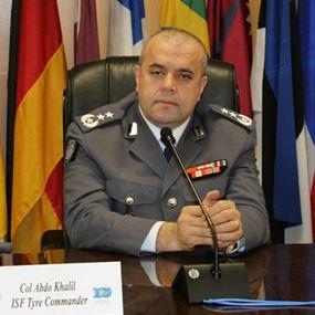 العقيد عبدو خليل: كل عسكري يتصرّف مع المواطنين بفوقية يُحاسب والعكس