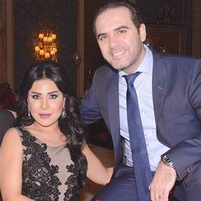 زوجة وائل جسار تقبله على الملأ
