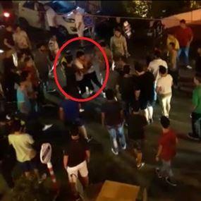 بالفيديو.. لحظة اندلاع الإشكال بين الفاليه باركينغ وآخرين في برمانا